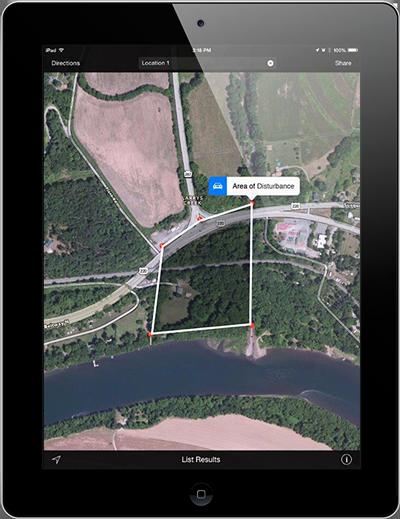 GeoAMPS iPad