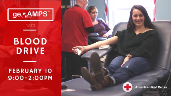 geoAMPS Hosting American Red Cross Blood Drive Feb. 10
