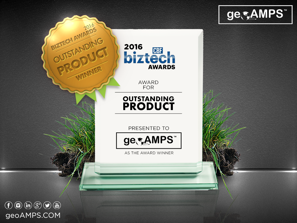 geoAMPS Wins 2016 BizTech Outstanding Product Award!
